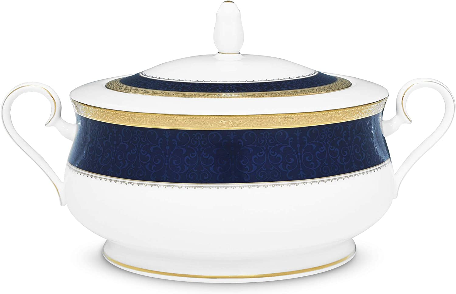 discount Noritake Odessa Cobalt Gold Bowl Covered Vegetable oz Bl 64 in At the price