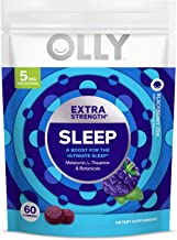Olly Extra Strength Sleep Melatonin Gummy, All Natural Flavor and Colors, BlackBerry Zen, 60 Count (Pack of 1)
