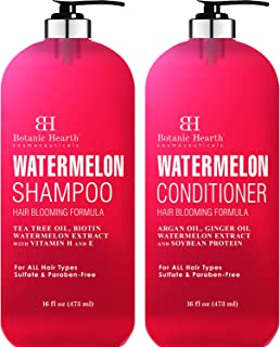 Sponsored Ad - BOTANIC HEARTH Watermelon Shampoo and Conditioner Set - Promotes Hair Growth, Fights Hair Loss, Moisturizes...