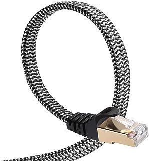 CAT8 LANケーブル [DanYee一年保証] 40Gbps 2000MHz 超高速インターネットケーブル 高速銅導線採用 (15m, ブラック)