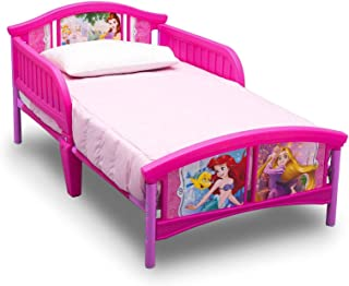 Princess Toddler Bed, Pink - H 26.18 in x W 29.13 in x D 53.95 in
