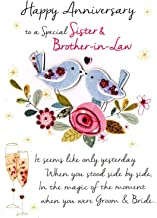 Just to Say Sister & Brother-In-Law Anniversary Greeting Card Second Nature Just To Say Cards