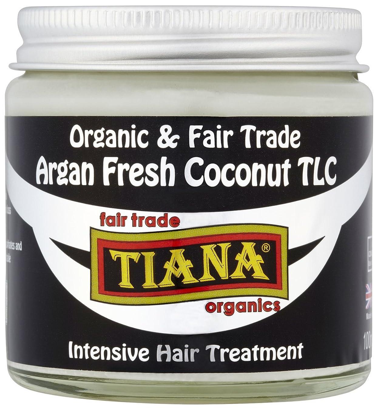 荷物引き算星Tiana Organic Argan Coconut Intensive Hair Treatment 100ml