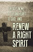 Renew Ash Wednesday Images Bulletin (Pkg of 50)