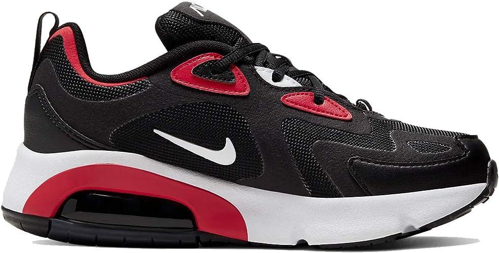 Nike Air Max 200 GS AT5627-007 Chaussures pour enfant Noir/rouge/blanc