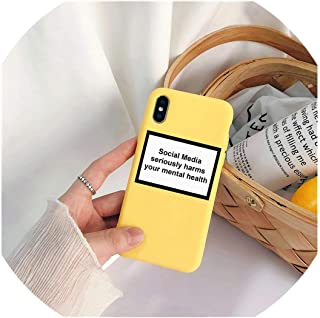 Social Media Seriously Harms Your Mental Health Phone case for iPhone X XR XS MAX 8 7 6 6s Plus Soft Silicone Back Cover Capa,190011,for iPhone Xs Max