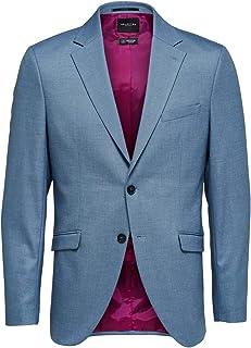 Selected Men's Slhslim-mylologan Lt Blue Stc BLZ B Noos Blazer