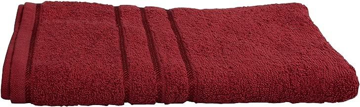 Sassoon Sandy Plain Cotton Bath Towel - Burgundy
