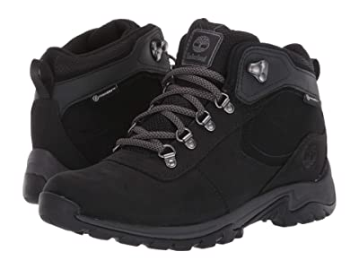 Timberland Mt. Maddsen Mid Leather Waterproof (Black Full Grain Leather) Women