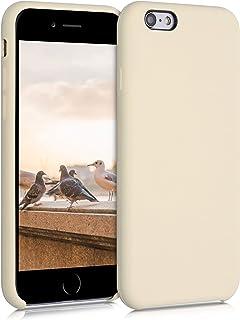 kwmobile telefoonhoesje compatibel met Apple iPhone 6 / 6S - Hoesje met siliconen coating - Smartphone case in ivoorwit