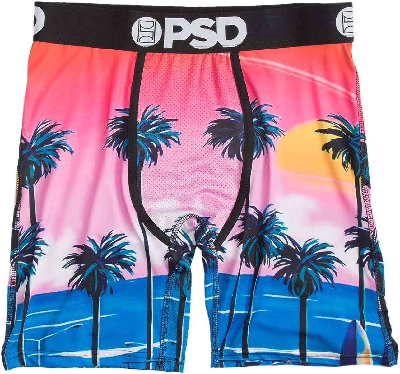 PSD Underwear Men's Printed Palms Boxer Briefs