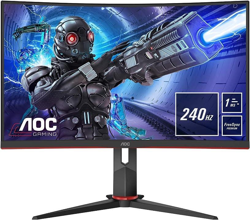 Monitor curvo 32 pollici aoc gaming c32g2ze - monitor curvo da 80 cm (31,5 pollici) C32G2ZE/BK
