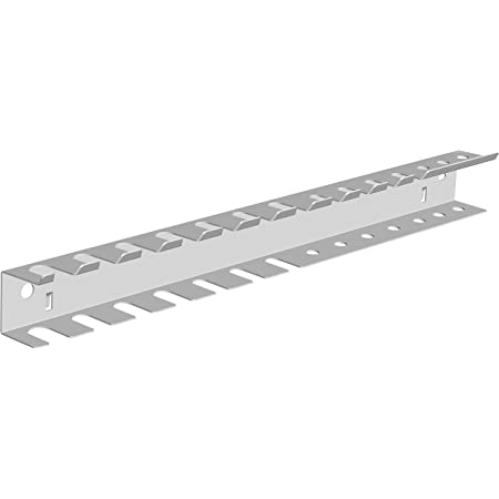 Element System 11412-00002 Barra Porta Attrezzi, White, doppelt