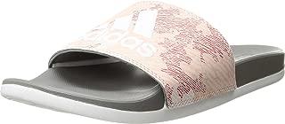 adidas Women's Adilette Comfort, dust Pink/White/Grey, 9 M US