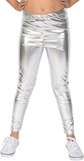 Girl's and Women's Premium Footless Leggings | Stretch Pants | Cotton, Metallic | Child X Small (4) - Adult 5X (28-30)
