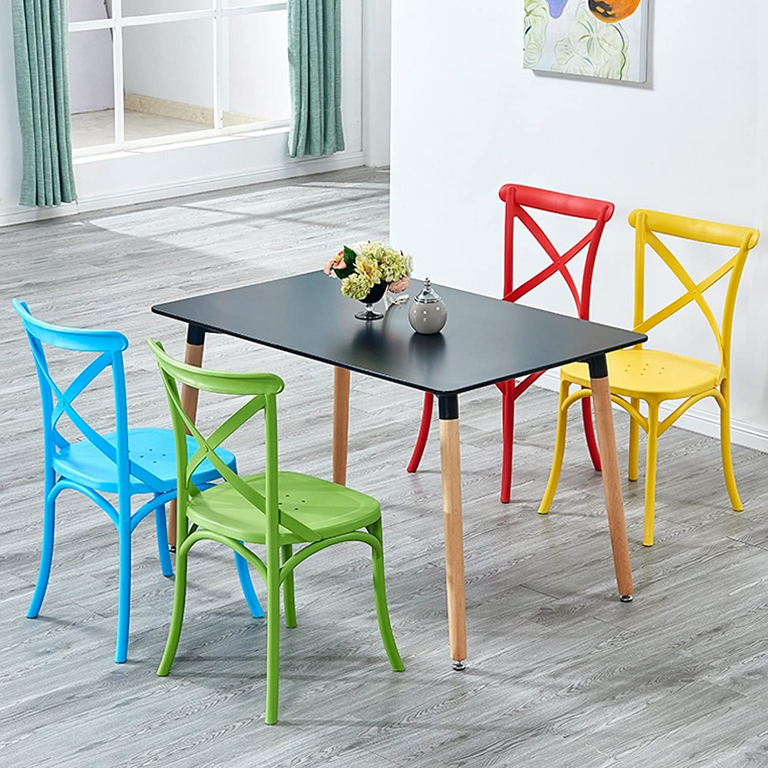 LRW North European Modern Leisure Dining Chair Home Backrest Chair (color   Yellow)