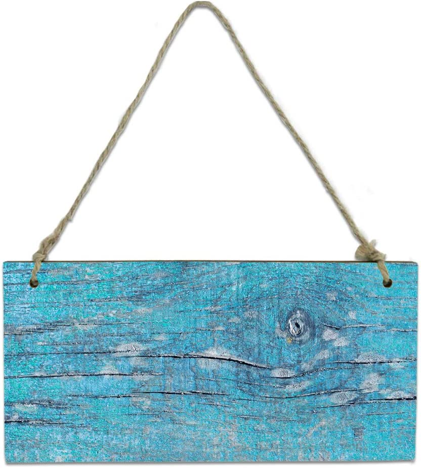 Wood Plaque Wall Hanging Sign for Finally popular brand Kitchen Cash special price Blue Wo Bathroom Retro