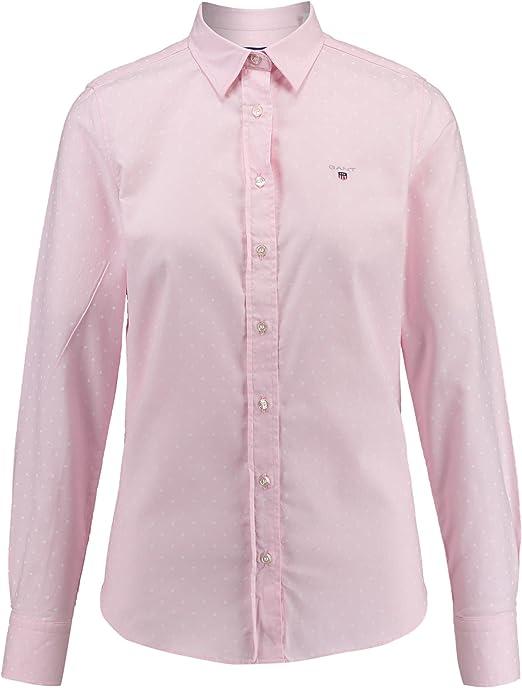 GANT Stretch Oxford Printed Dot Shirt Blusa para Mujer