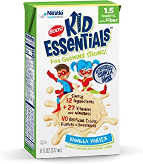 Boost Kid Essentials 1.5 Nutritionally Complete Drink, Vanilla Vortex, 8 Ounce, Pack of 27