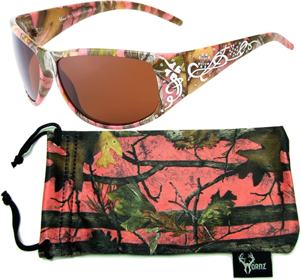 Hornz Women's Pink Hot Product Camouflage Attention brand Pink-Purple Sungla Polarized