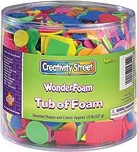 Creativity Street Wonderfoam Assorted Shape Decorative Foam Shape, Assorted Size, Assorted Color, 0.5 lb Tub, Pack of 3000