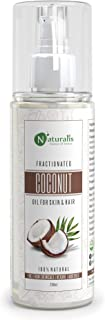 Naturalis Essence Of Nature Fractionated Coconut Carrier Oil Natural Skin Moisturizer, Therapeutic, Odorless, 200 Ml