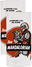 Disney Star Wars The Mandalorian 100% Cotton Kitchen Towels – Set of 2 Towels – Perfect for Drying Dishes and Hands – Mach...