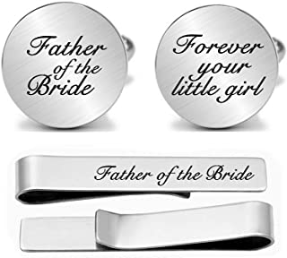 JUPPE Father of The Bride Cuff Links Personalized Wedding Cufflinks Him