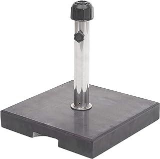 40 x 40 cm a Forma di Croce in Metallo Supporto per ombrellone Meinposten