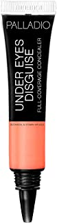 Palladio Under Eyes Disguise Full Coverage Concealer, Peach Tea, 0.35 Ounce