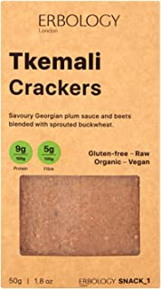 Erbology Organic Crackers (12 x 1.8 oz Pack) with Tkemali - Raw - Vegan - Gluten-free - Activated