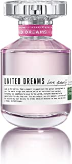 United Colors of Benetton United Dreams Love Yourself for Women 2.7 Oz Eau de Toilette Spray, Multicolor, UNIPFW016