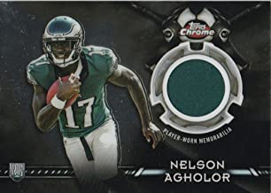 2015 Topps Chrome Rookie Retail Relics #TCRRNA Nelson Agholor Jersey -