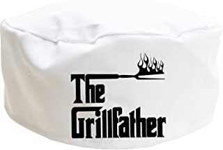 The Grillfather adult chef hat, novelty skull cap