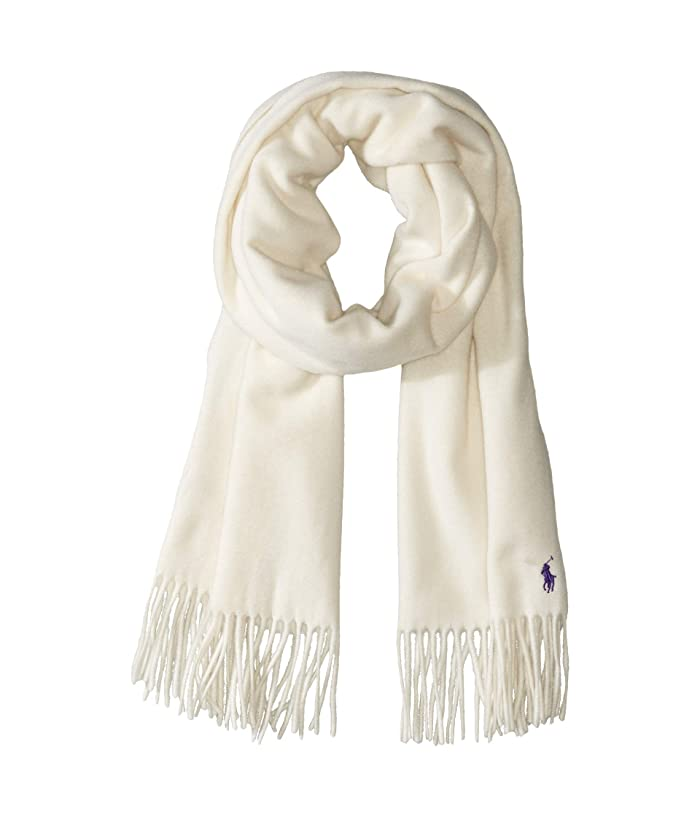 Polo Ralph Lauren  Cashmere Blend Luxury Staple Scarf (Cream) Scarves