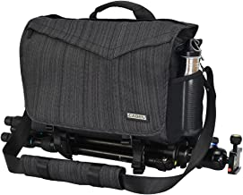 CADeN DSLR/SLR Camera Shoulder Bag with 14inch Laptop Compartment, Camera Messenger Bag with Tripod Holder Rain Cover Waterproof, Compatible for Canon Nikon Sony Mirrorless Cameras Black