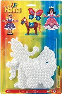 Hama 4560 - Tableros para perlas, diseño princesa, mariposa y caballo