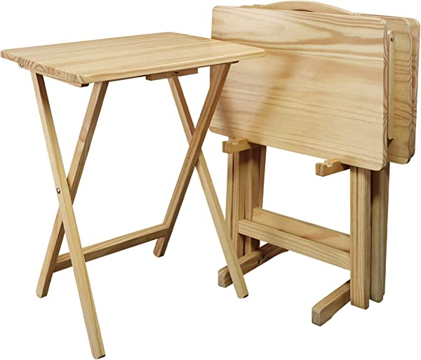 Casual Home 660 40 5 Piece Tray Table Set Natural