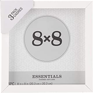 Darice Essentials White 8 x 8 inches, 3 Pieces Shadow Box