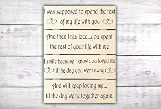 In Loving Memory Sign | Memorial Gift | Memorial Plaque | Sympathy Gift | Heaven Sign | Until We Meet Again -by LEADING EDGE DESIGNS