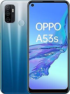 "Smartphone Oppo A53S, 6,5"" LCD 90HZ, Triple cámara 13 + 2 + 2 MP, Snapdragon 460, Android 10 + Color OS 7.2, 4GB + 128GB, 5000 mAh + Carga 18W, Fancy Blue"