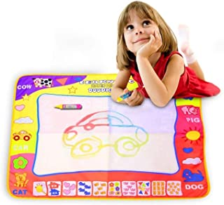 Magic Aqua Doodle Mat 4 Color Water Drawing Printing Board Pad Eco-Friendly Educational Toy for Kids