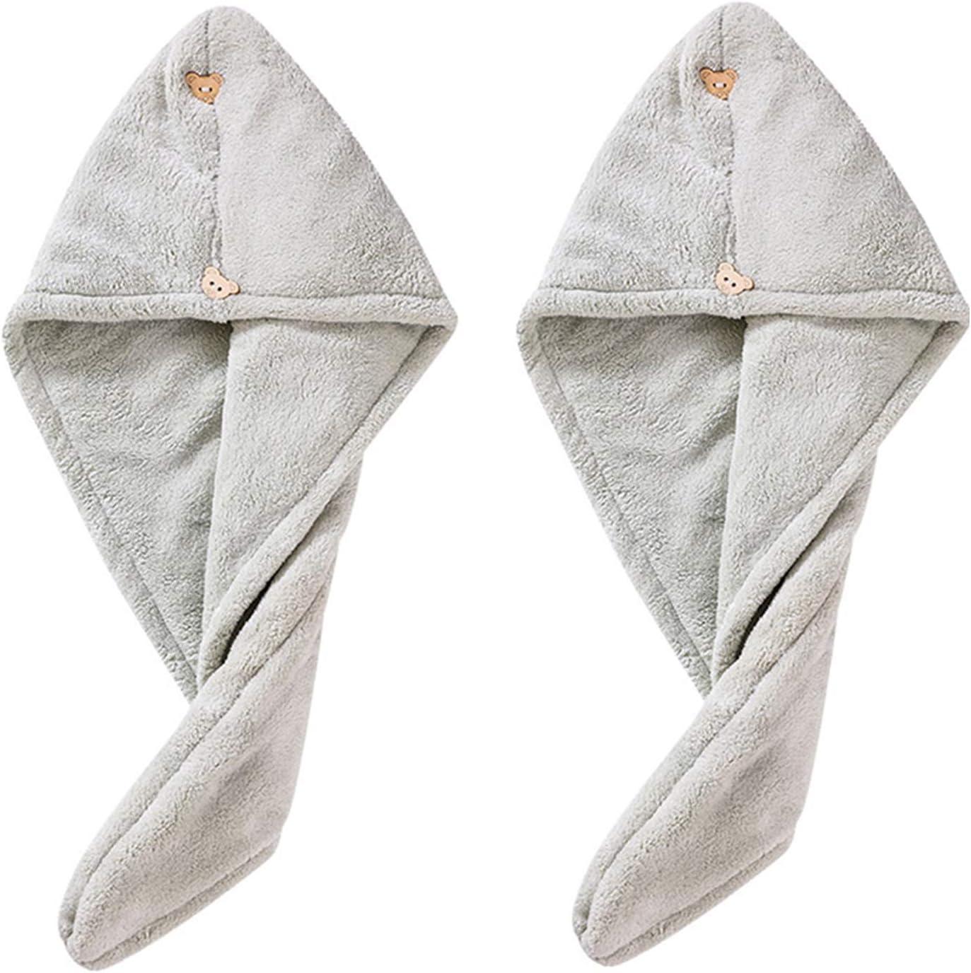 ABBBHHJL Dry Hair Cap for Pack 2 Hat Max 83% OFF Towel [Alternative dealer] Women