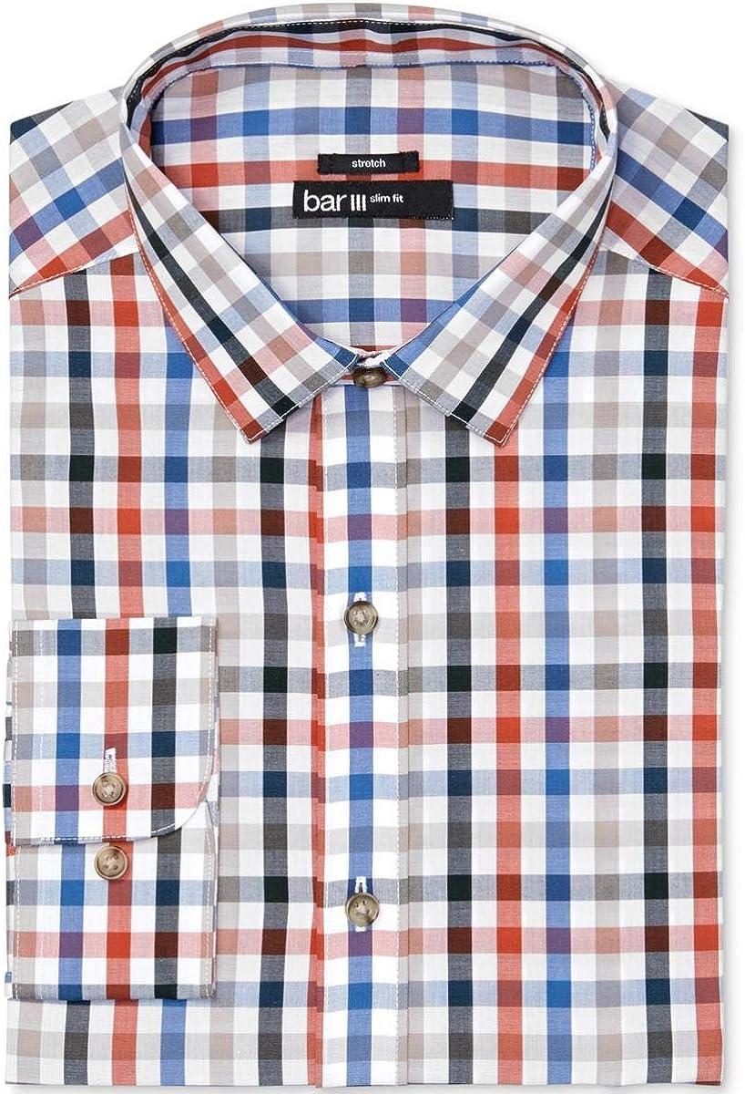 bar III Mens Easy Care Quatro Twill Button Up Dress Shirt