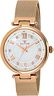 Spectrum Women's Rose Dial Stainless Steel Mesh Band Watch - 25158L-9