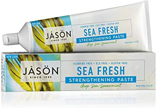 Jason Sea Fresh Strengthening Flouride-Free Toothpaste, Deep Sea Spearmint, 6 Oz