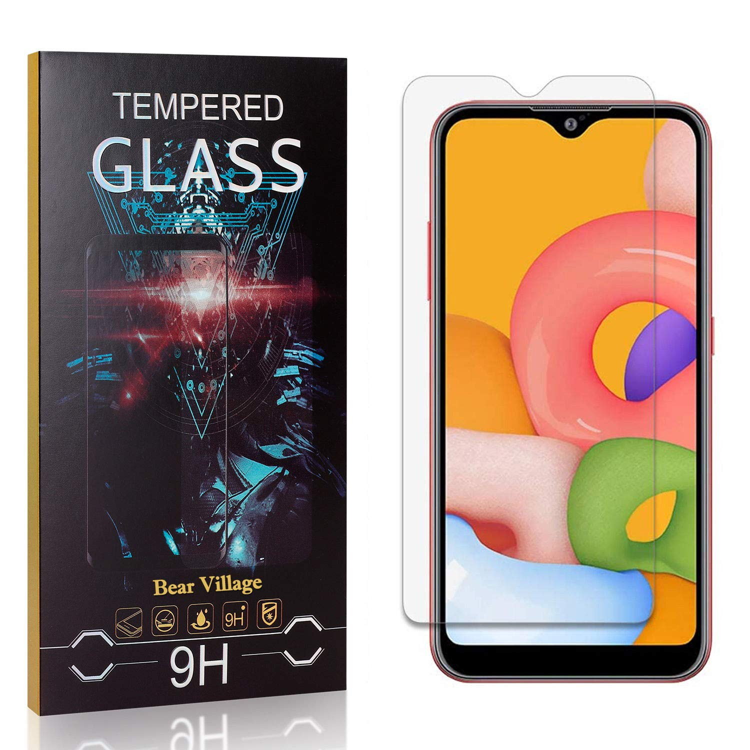 Screen Protector for Galaxy A01 Great interest Soldering Hardness Bear Bubble 9H Village