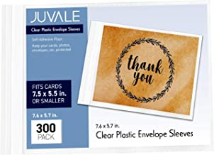 plastic sleeves for greeting cards