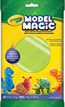 Crayola Model Magic, Neon Green, 4 Ounce No-Mess, Soft, Squishy, Lightweight Modeling Material For Kids 4 & Up, Easy to Paint and Decorate, Air Dries Smooth