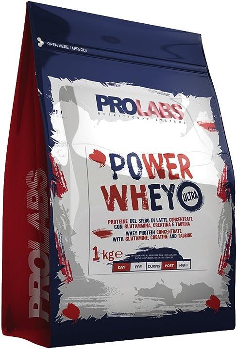 Proteine - prolabs power whey ultra vaniglia - busta da 1kg POW1.0VAN